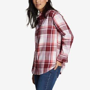 Eddie Bauer Firelight Flannel Shirt- Boyfriend Fit